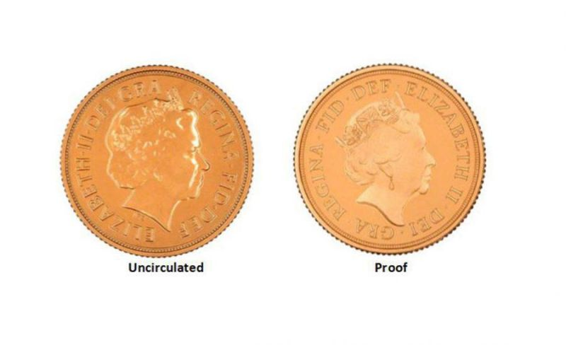 what is the difference between a proof and uncirculated coin